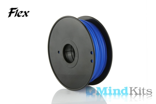 TPU Flexible filament, 3.00mm, Blue, 0.8kg/spool