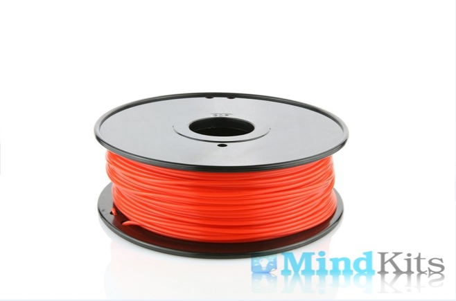 PLA filament, 3.0mm, Fluorescent Red, 1kg/spool