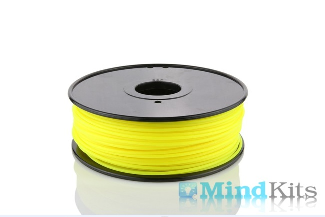 PLA filament, 3.0mm, Fluorescent Yellow, 1kg/spool