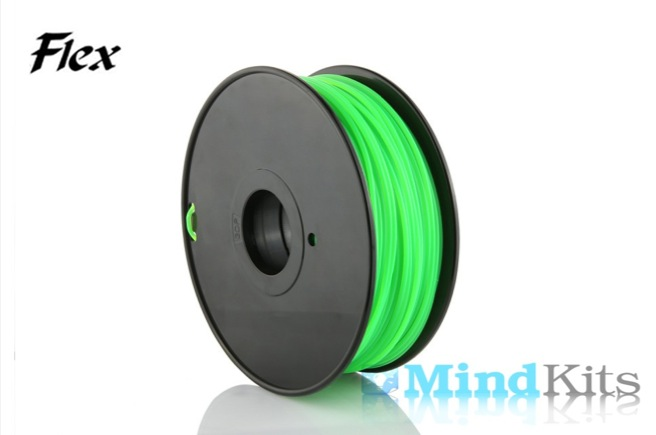TPU Flexible filament, 3.00mm, Green, 0.8kg/spool