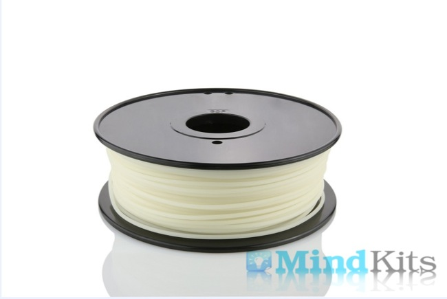 PLA filament, 3.0mm, Luminous Green, 1kg/spool