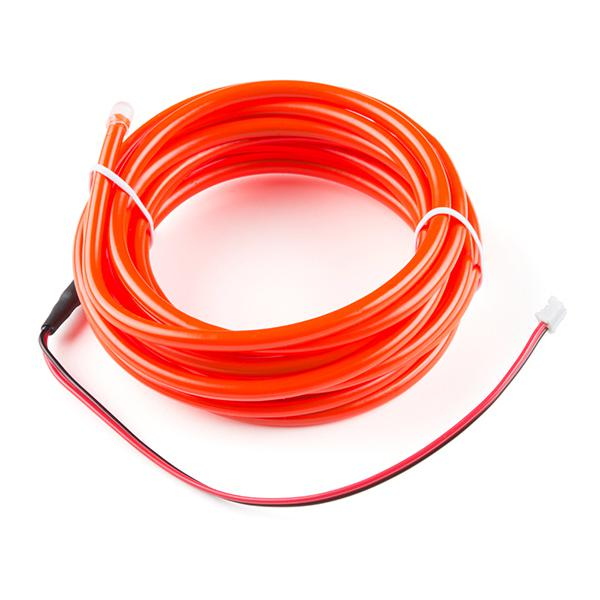 Bendable EL Wire - Red 3m