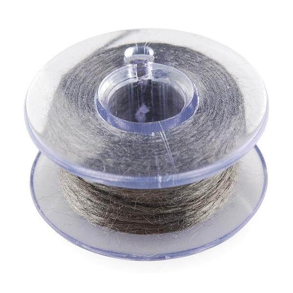 Conductive Thread Bobbin - 30ft (Stainless Steel)