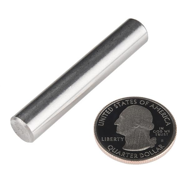 "Shaft - Solid (Stainless; 3/8""D x 2""L) - ROB-12131"
