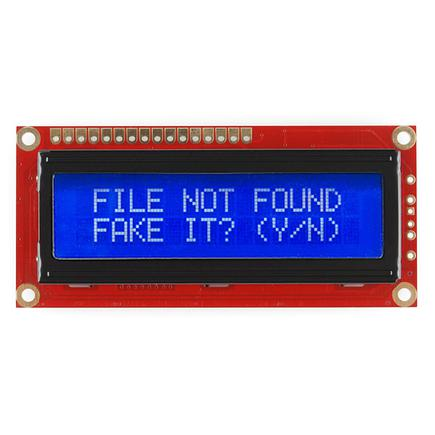 Basic 16x2 Character LCD - Yellow on Blue 5V