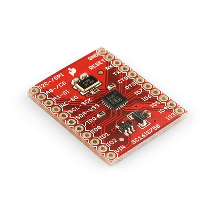 Breakout Board for SC16IS750 I2C-SPI-to-UART IC