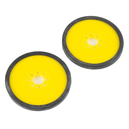 "Precision Disc Wheel - 3"" (Yellow, 2 Pack)"