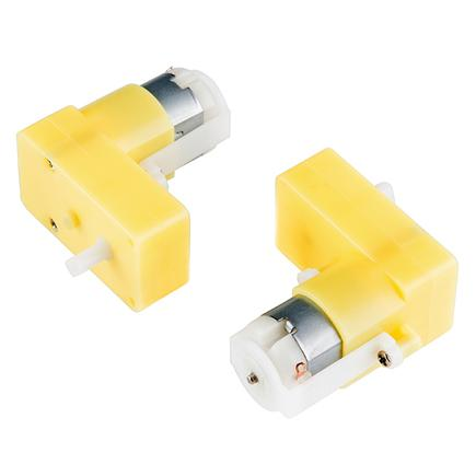 Hobby Gearmotor -  65 RPM (Right Angle, Pair)