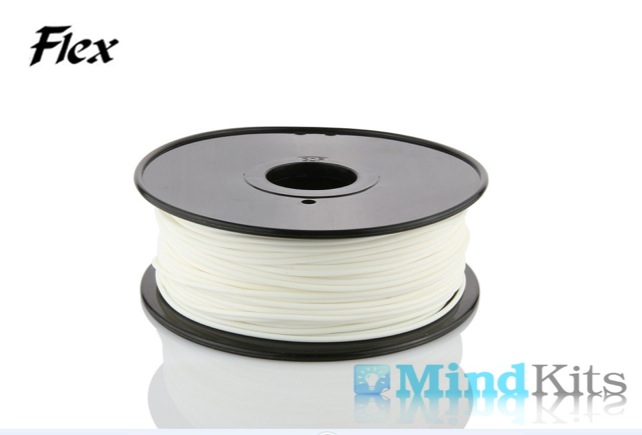TPU Flexible filament, 1.75mm, White, 0.8kg/spool