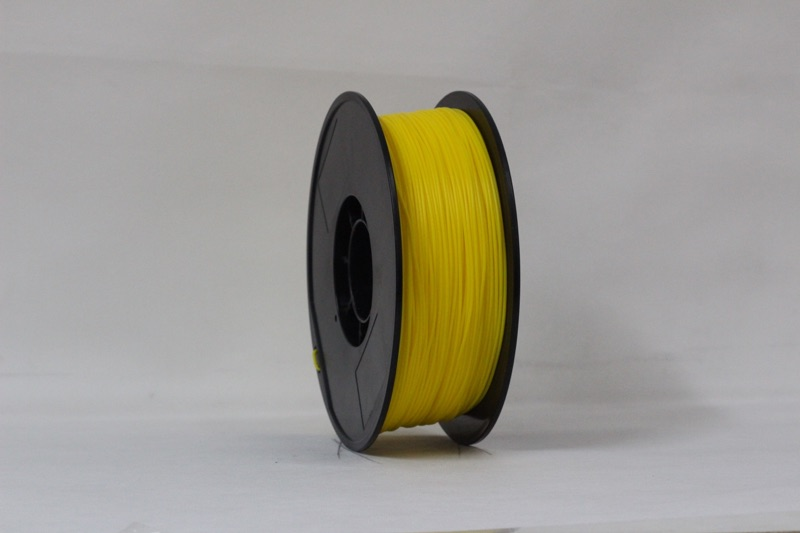 ABS filament, 1.75mm, Yellow, 1kg/spool