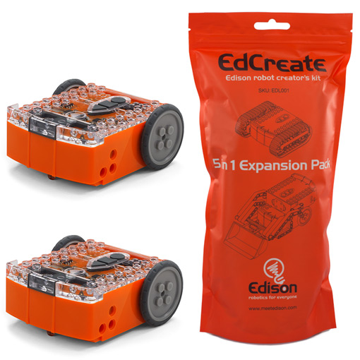 EdSTEM Home Pack – 2 Edison robots and EdCreate kit - ED-HomePack