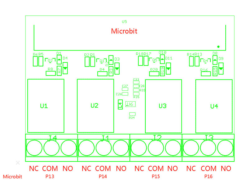Four Channel Relay for Micro: bit - EL-DTS04012R
