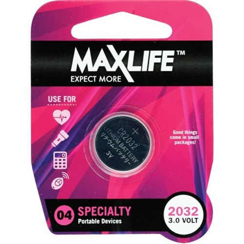 Maxlife CR2032 Lithium Button Cell Battery