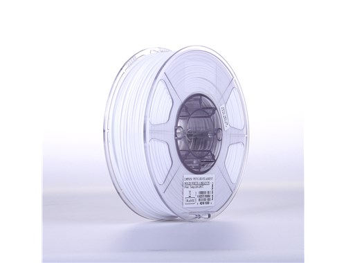 PETG filament, 2.85mm (3.0mm Compatible), Solid White, 1kg/spool