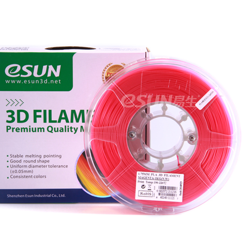 PLA filament, 1.75mm, Pink, 1kg/spool