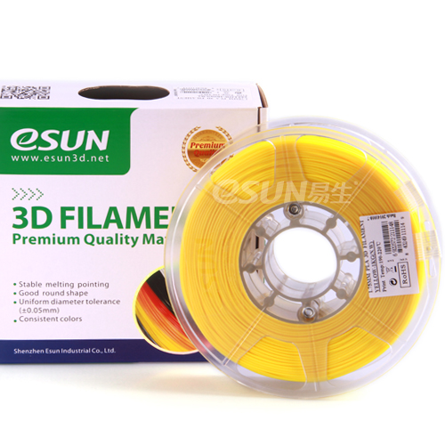 PLA filament, 1.75mm, Yellow, 1kg/spool