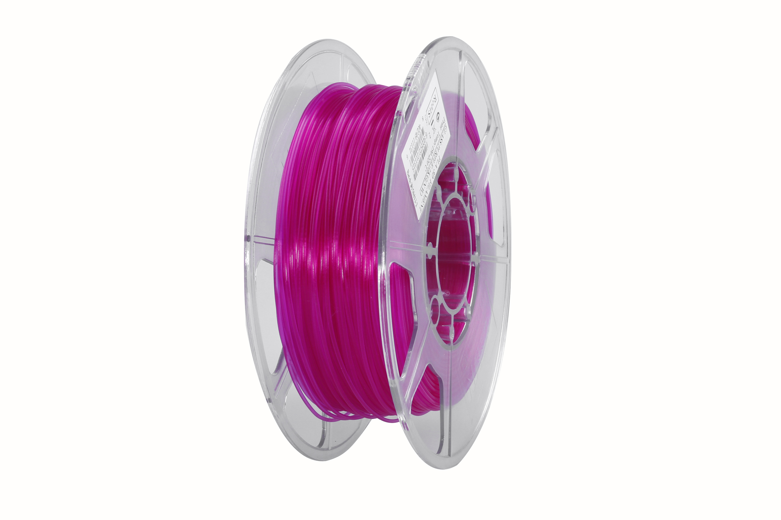 PLA filament, 2.85mm (3.0mm Compatible), Glass Purple, 1kg/spool