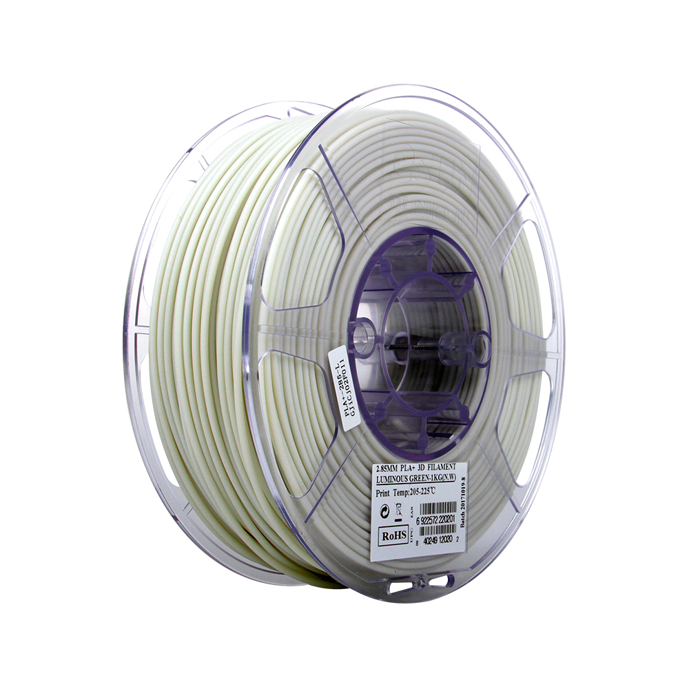 PLA filament, 2.85mm (3.0mm Compatible), Luminous Green, 1kg/spool