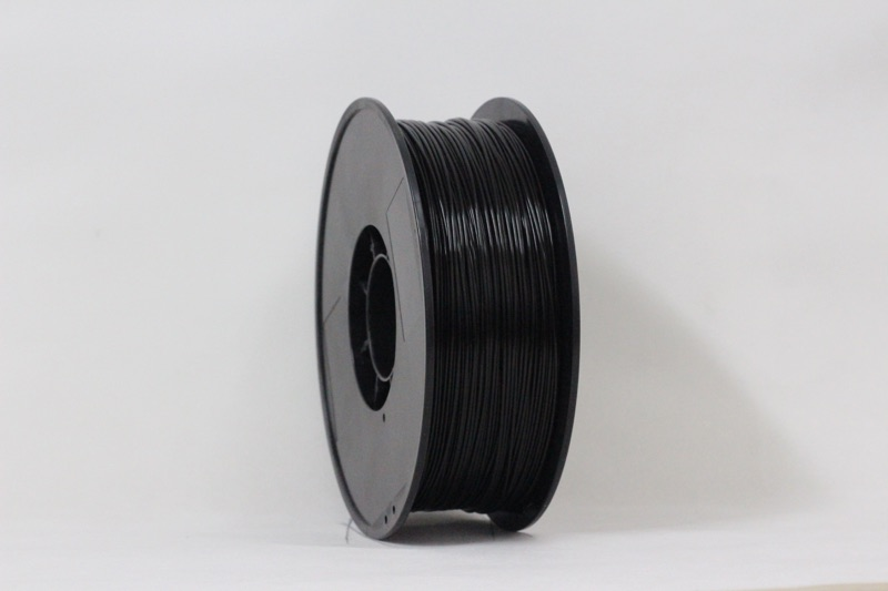 PLA filament, 3.0mm, Black, 1kg/spool