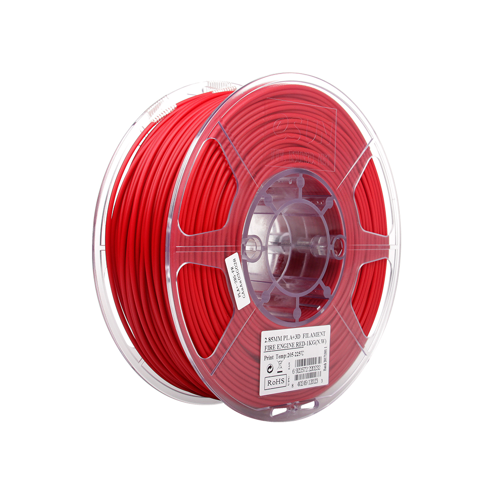 PLA filament, 2.85mm (3.0mm Compatible), Fire Engine Red, 1kg/spool