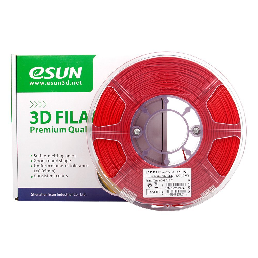 PLA filament, 3.0mm, Fire Engine Red, 1kg/spool