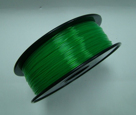 PLA filament, 3.0mm, Transparent Grass Green, 1kg/spool