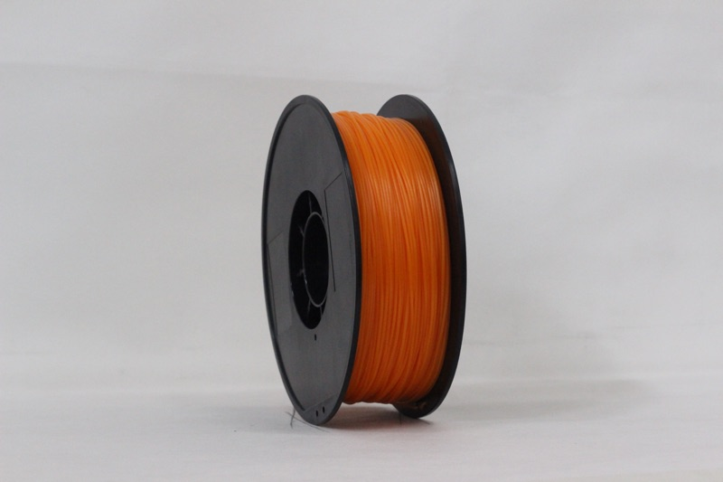 PLA filament, 3.0mm, Orange, 1kg/spool