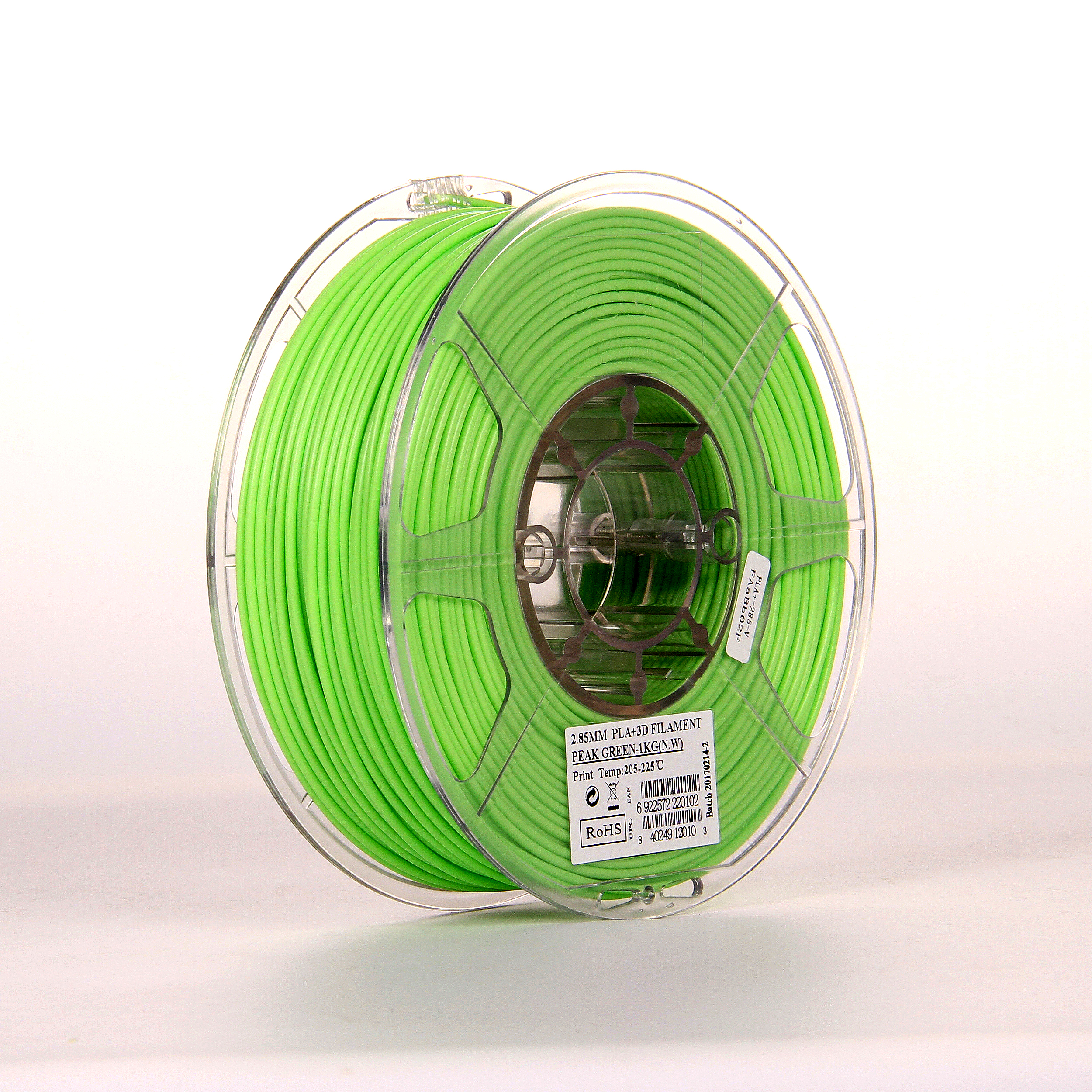 PLA filament, 2.85mm (3.0mm Compatible), Peak Green, 1kg/spool [clone]