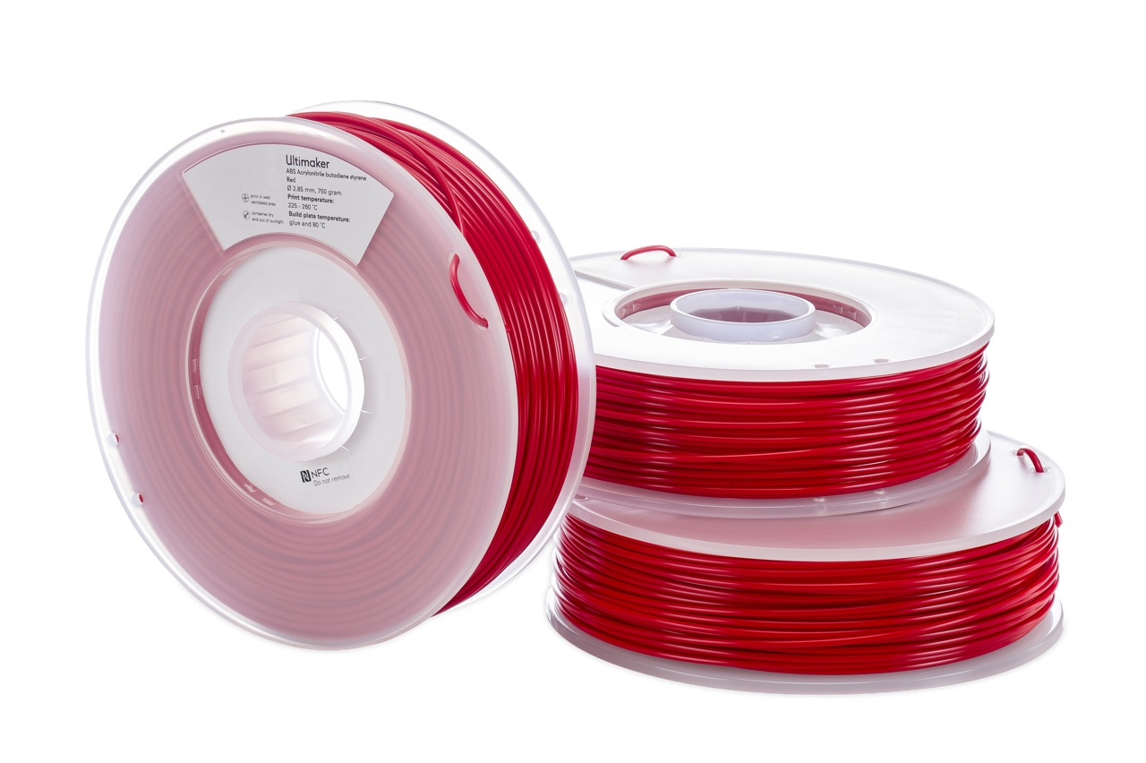 Ultimaker ABS Red 750g Spool