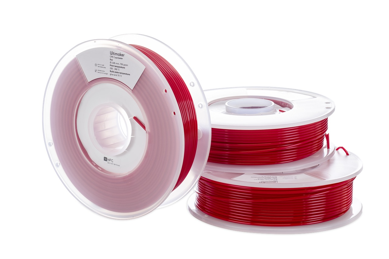 Ultimaker CPE Red 750g Spool