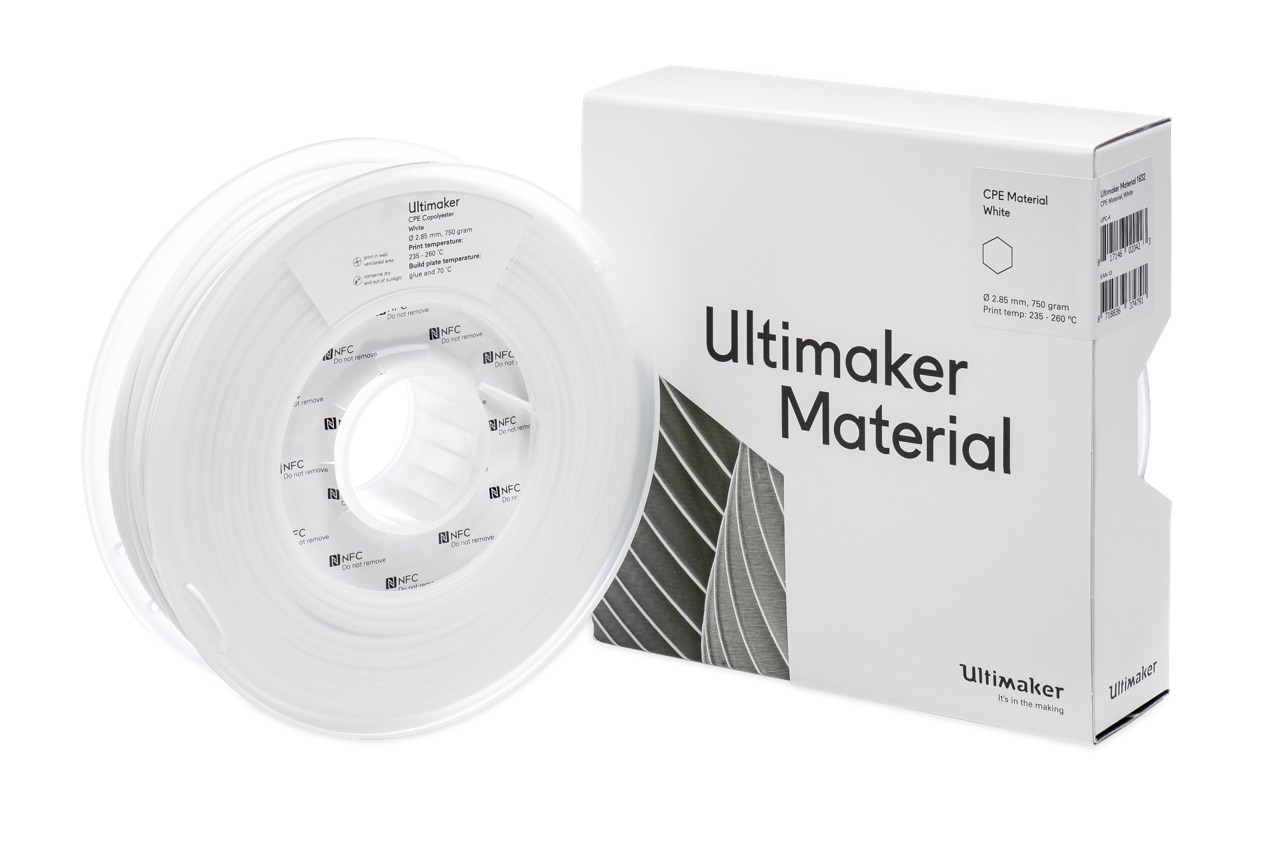 Ultimaker CPE+ TR White 700g Spool - 2.85mm (3.0mm Compatible) - UM-1645