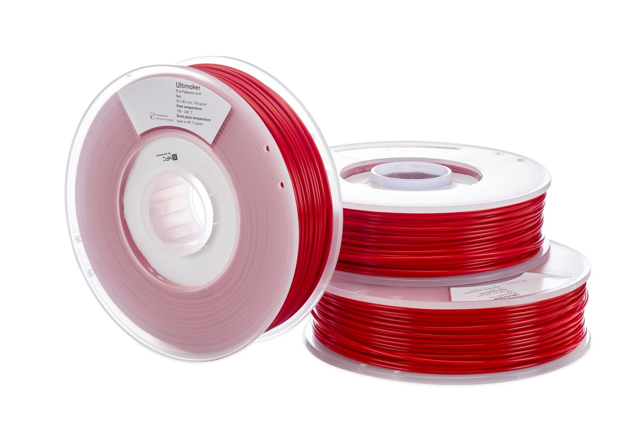 Ultimaker PLA Red 750g Spool