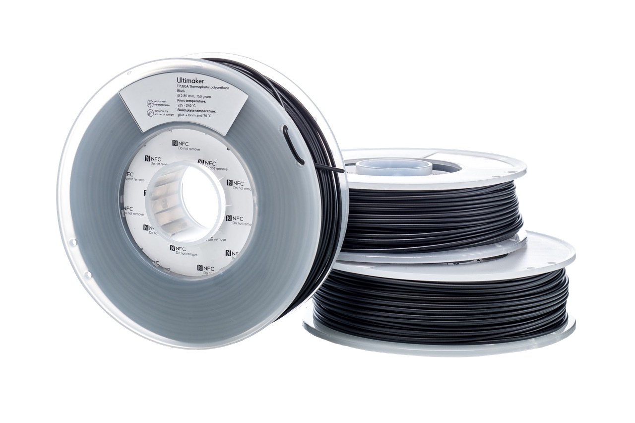 Ultimaker TPU Black 750g Spool - 2.85mm (3.0mm Compatible)