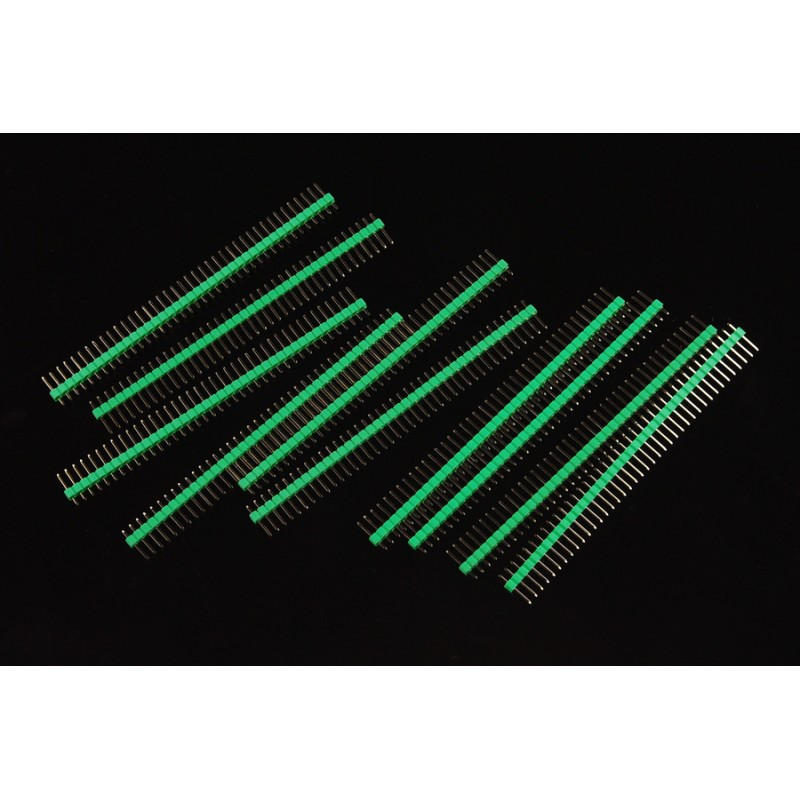 0.1 (2.54 mm) Arduino Male Pin Headers (Straight Green 10pcs)