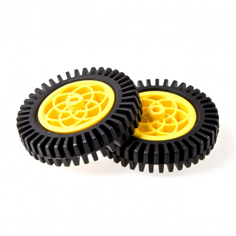 Rubber Wheel (Compatible with Servo &; Motor)