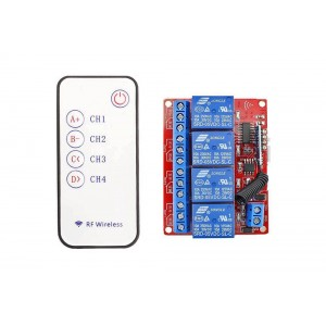 4 Channels RF Remote Control Module DC 5V
