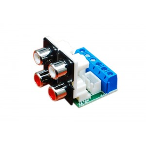 4 RCA Socket Audio Input Adapter Board Kit