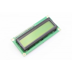 1602 16x2 Character LCD Display Module - Yellow Backlight