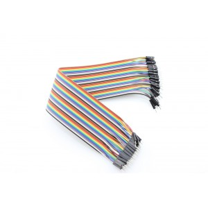 40 pin dual male splittable jumper wire - 300mm