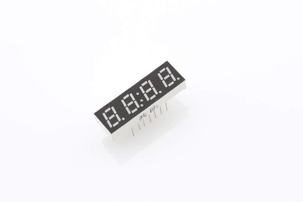 "0.28"" Four Digit Numeric Time Display - Red (Common Cathode)"