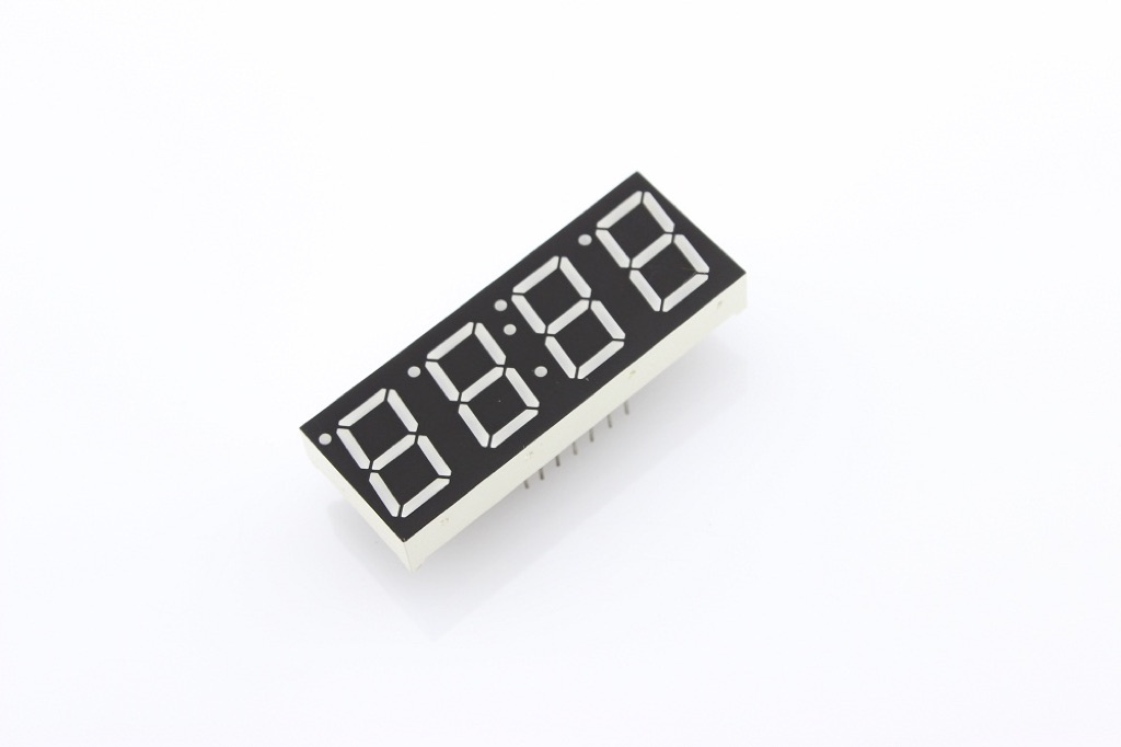 "0.56"" Four Digit Numeric Time Display - Red (Common Cathode)"
