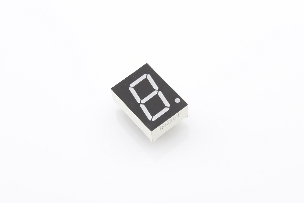 "0.8"" Single Digit Numeric Display - Red (Common Cathode)"