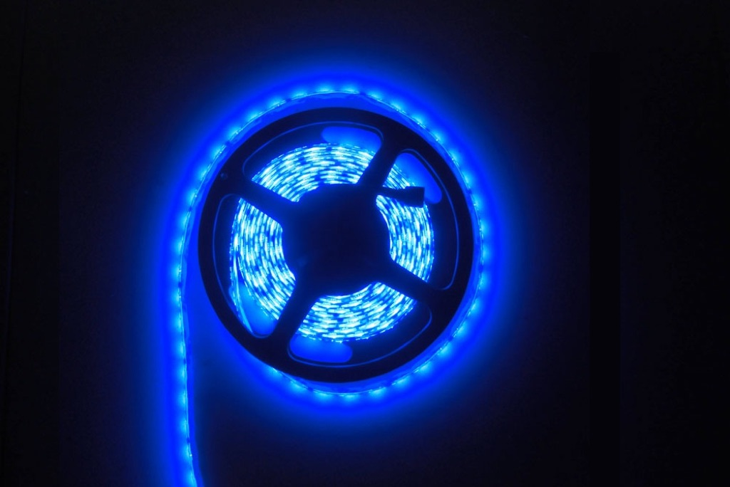 Blue LED Waterproof Flexi-Strip - 60 LED-1m