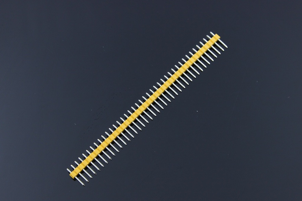 40Pin 2.54mm Male Header - Yellow (5pcs pack)