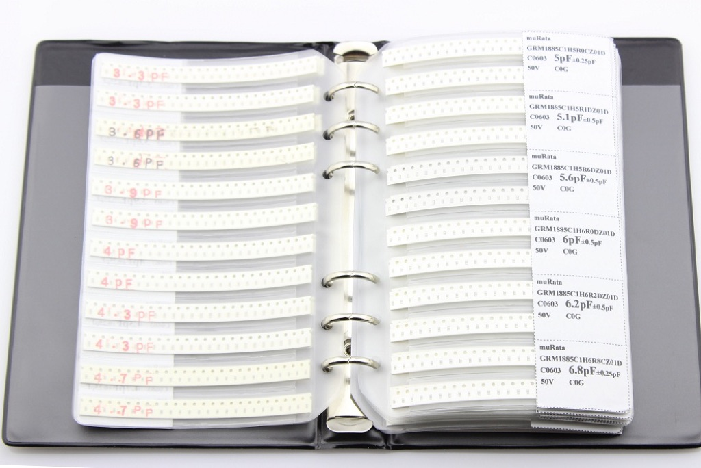 0603 SMT Capacitor Sample Book - 4500 pcs in 90 values