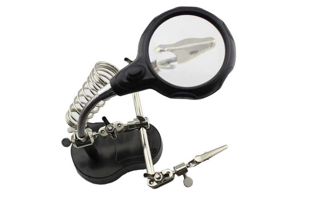 Auxiliary Clip Magnifier for Soldering