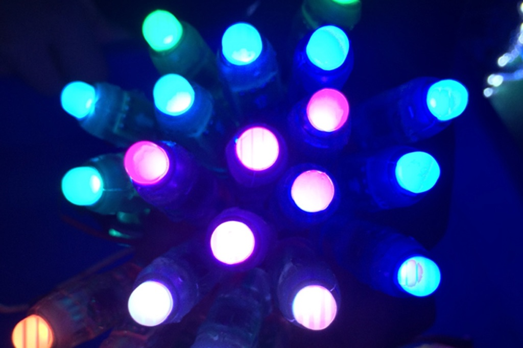 50pcs DC12V 12mm WS2811 Pixel Node Smart LED