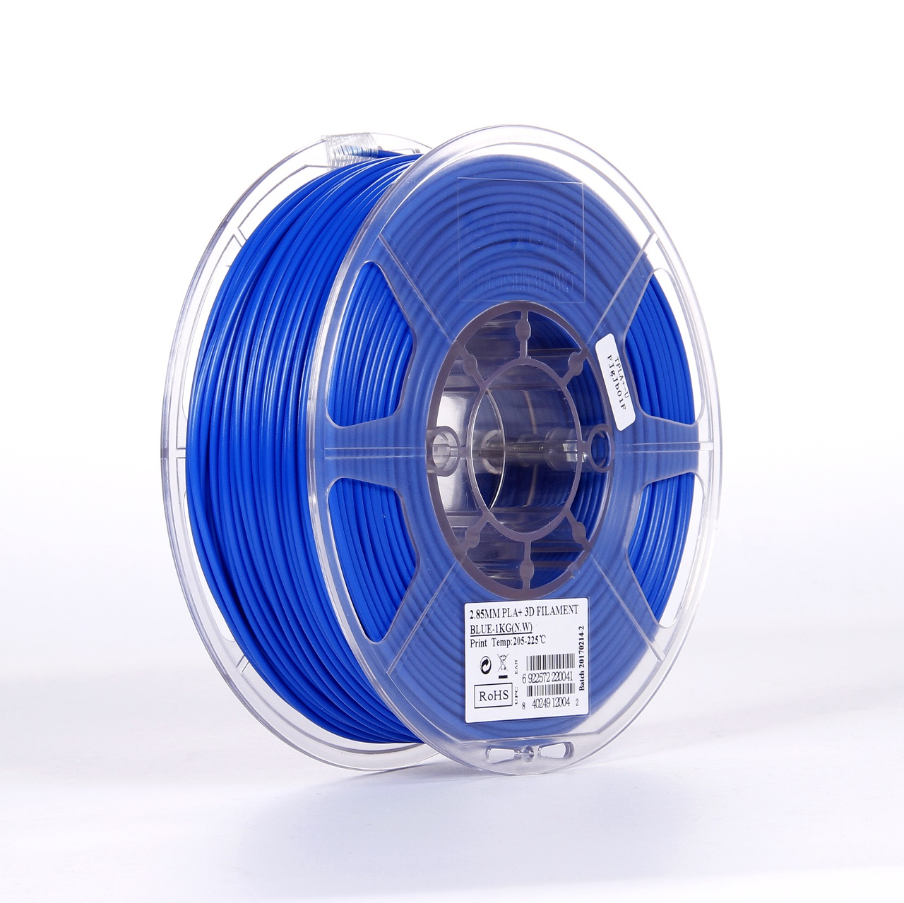 PLA filament, 2.85mm (3.0mm Compatible), Blue, 1kg/spool