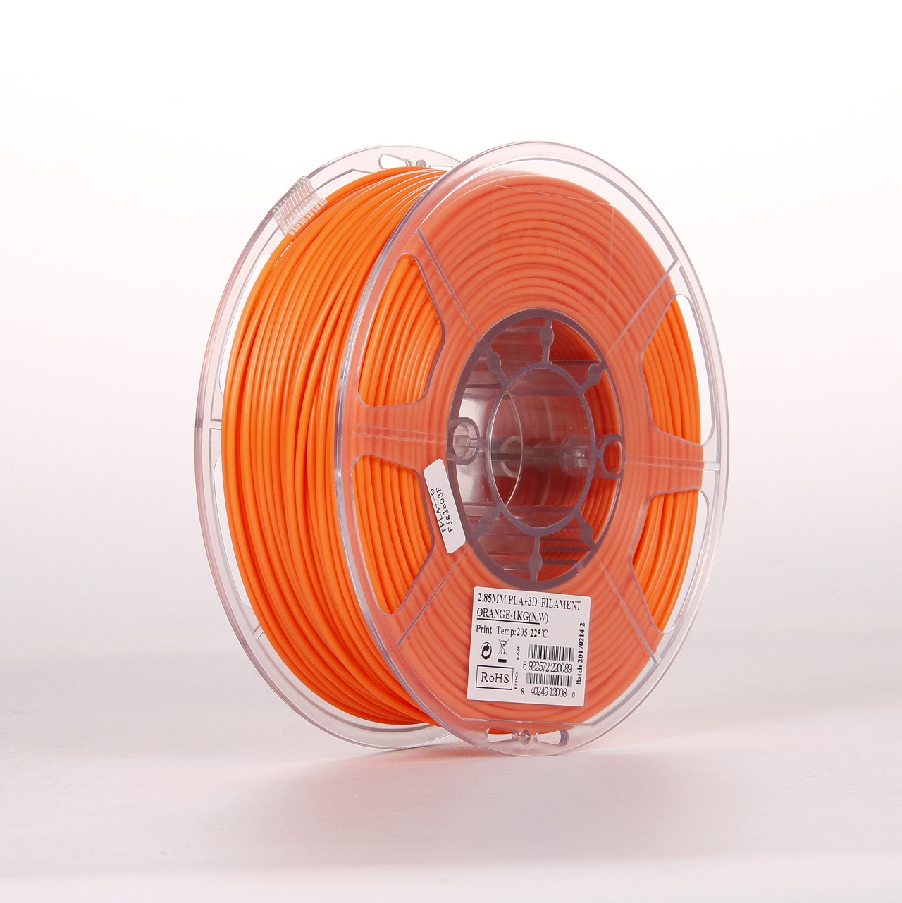 PLA filament, 2.85mm (3.0mm Compatible), Orange, 1kg/spool