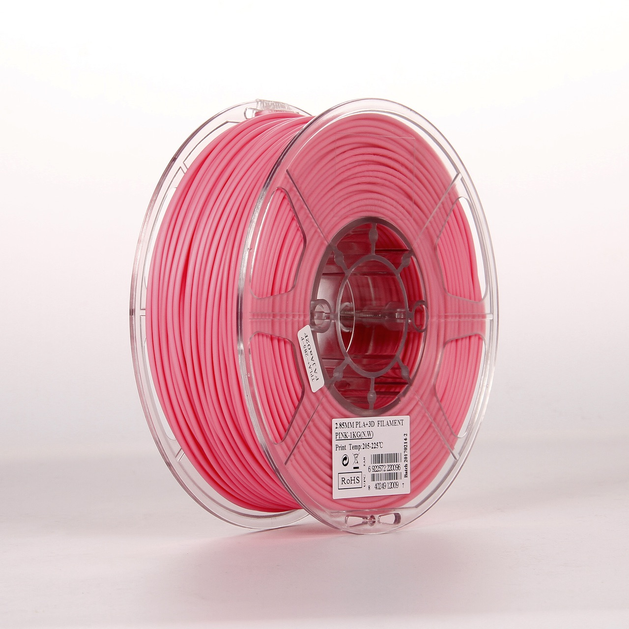 PLA filament, 2.85mm (3.0mm Compatible), Pink, 1kg/spool